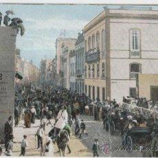 Postales: LAS PALMAS. GRAN CANARIA. CARNAVAL EN LA CALLE TRIANA. AÑO 1906.. Lote 27600152