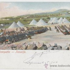 Postales: TENERIFE. ISLAS CANARIAS. MISA DE CAMPAÑA. AÑO 1902.. Lote 25004713