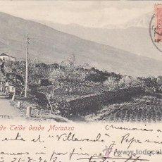 Postales: PICO DEL TEIDE DESDE MATANZA 1902. BONITA POSTAL CIRCULADA DESDE CADIZ A LAS PALMAS (CANARIAS).. Lote 25308535