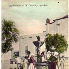Postales: CANARIAS. LAS PALMAS. STO DOMINGO FUENTE. GRAN CANARIA. BAZAR ALEMAN. SIN CIRCUALR.. Lote 26364379
