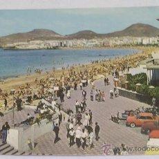 Cartoline: LAS PALMAS DE GRAN CANARIA - PLAYA DE LAS CANTERAS - PEUGEOT 404 - BMW 700 - RENAULT. Lote 87906839