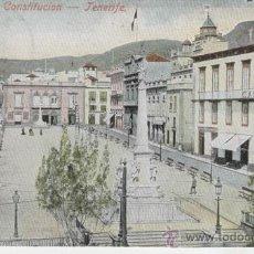 Postales: ISLAS CANARIAS. TENERIFE. PLAZA DE LA CONSTITUCIÓN. AÑOS 1900.. Lote 27314744