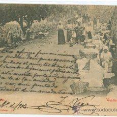 Postales: LAS PALMAS, WASHING WOMEN. Lote 27510740