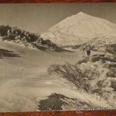 Postcards - ANTIGUA FOTO POSTAL DE TENERIFE - LA MONTAÑA BLANCA Y EL TEIDE DESDE LOS LLANOS DE MAJA - SERIE I NU - 27603144