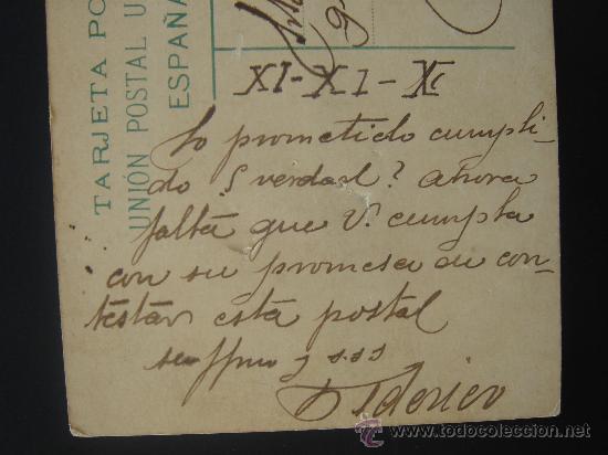 Postales: DETALLE DE LA FECHA Y TEXTO. - Foto 4 - 27603354