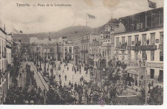 TENERIFE.PLAZA DE LA CONSTITUCION. NOBREGAS ENGLISH BAZAR Nº 46 (Postales - España - Canarias Antigua (hasta 1939))