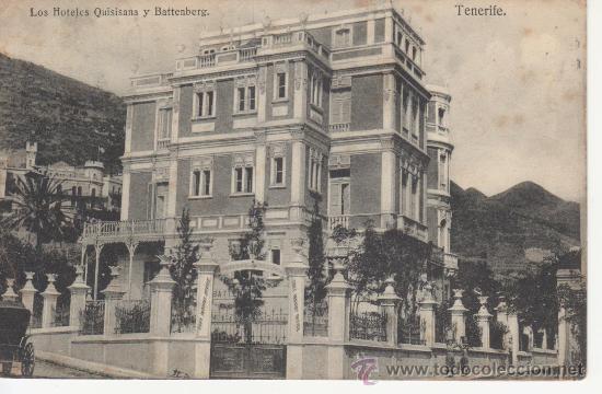 TENERIFE. LOS HOTELES QUISISANA Y BATTENBERG. RASTRILLO PORTOBELLO PARA COLECCIONSIMO EN GENERAL. (Postales - España - Canarias Antigua (hasta 1939))