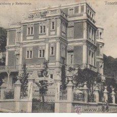 Postales: TENERIFE. LOS HOTELES QUISISANA Y BATTENBERG. RASTRILLO PORTOBELLO PARA COLECCIONSIMO EN GENERAL.. Lote 27671626