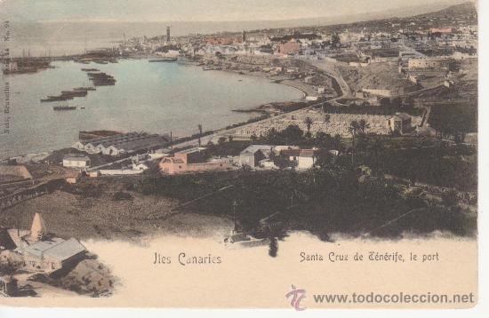 TENERIFE.SANTA CRUZ.LE PORT.SIN DIVIDIR.CIRCULADA. (Postales - España - Canarias Antigua (hasta 1939))