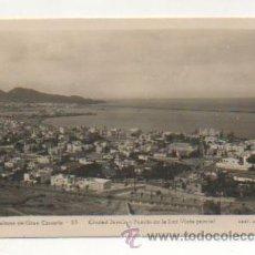 Postales: LAS PALMAS DE GRAN CANARIA. CIUDAD JARDIN Y PUERTO DE LA LUZ. VISTA PARCIAL. (ED. ARRIBAS, Nº 53). Lote 27734708