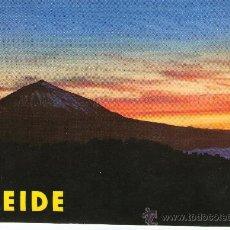 Postales: BUENA POSTAL DE TEERIFE - ATARDECER DEL TEIDE -. Lote 27799505