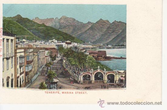 MARINA STREET.TENERIFE.CANARIAS. SIN DIVIDIR (Postales - España - Canarias Antigua (hasta 1939))