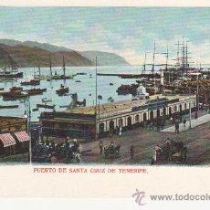 Postales: PUERTO DE SANTA CRUZ DE TENERIFE.CANARIAS. SIN DIVIDIR. Lote 27802517