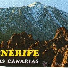 Postales: POSTAL DE TENERIDE , TEIDE - CONTRASTE DE LUCES EN AS CAÑADAS - . Lote 27805973