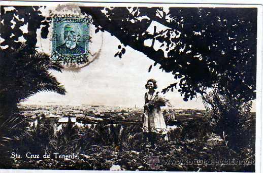 SANTA CRUZ DETENERIFE. CANARIAS. FOTOGRÁFICA. CIRCULADA. (Postales - España - Canarias Antigua (hasta 1939))