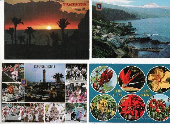 LOTE DE 4 MODERNAS.VARIADOS DE TENERIFE (Postales - España - Canarias Moderna (desde 1940))