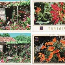 Postales: LOTE DE 4 MODERNAS. TENERIFE FLORIDO. Lote 28182524