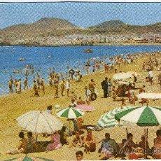 Postales: BONITA POSTAL - LAS PALMAS DE GRAN CANARIA (CANARIAS) - PLAYA DE LAS CANTERAS MUY AMBIENTADA. Lote 28225485
