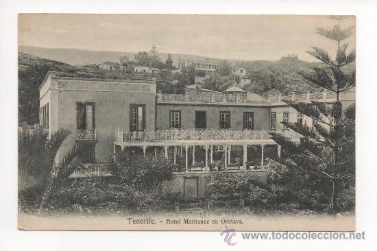 TENERIFE HOTEL MARTIANEZ EN OROTAVA -NOBREGA'S ENGLISH BAZAR. (Postales - España - Canarias Antigua (hasta 1939))