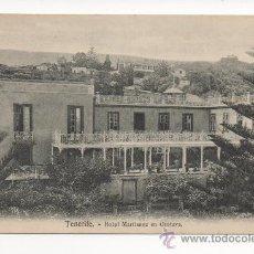 Postales: TENERIFE HOTEL MARTIANEZ EN OROTAVA -NOBREGA'S ENGLISH BAZAR. . Lote 28279653