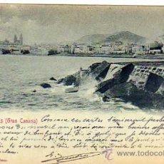 Postcards - Postal editada en el Siglo XIX. Bazar Aleman. Las Palmas. Gran Canaria. Circulada 2 sellos XX. - 28507028