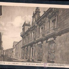 Postales: TARJETA POSTAL DE TENERIFE. LA LAGUNA. CALLE DE SAN AGUSTIN Y PALACIO EPISCOPAL. Lote 28572268