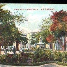 Postales - TARJETA POSTAL DE LAS PALMAS - PLAZA DE LA DEMOCRACIA - 29033193