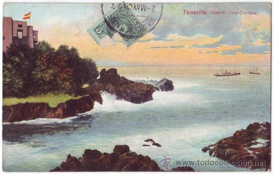 TENERIFE: PUERTO CRUZ - OROTAVA. NOBREGAS ENGLISH BAZAR. CIRCULADA (C.1910) (Postales - España - Canarias Antigua (hasta 1939))
