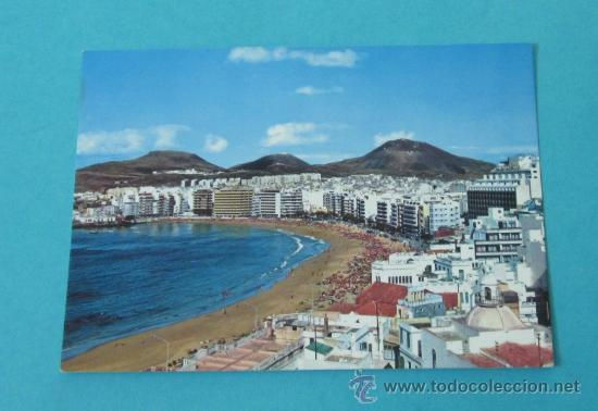 LAS PALMAS DE GRAN CANARIA. VISTA PANORÁMICA DE LA PLAYA DE LAS CANTERAS (Postales - España - Canarias Moderna (desde 1940))