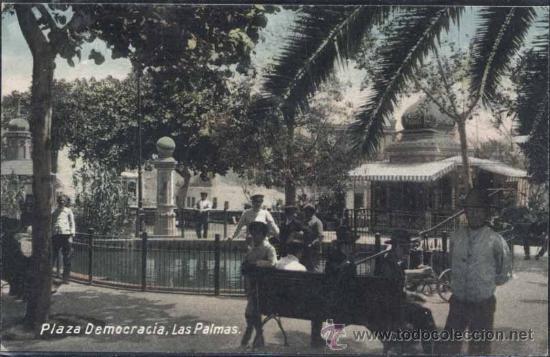 LAS PALMAS (GRAN CANARIA).- PLAZA DEMOCRACIA (Postales - España - Canarias Antigua (hasta 1939))