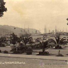 Postales: FOTOGRAFIA ORIGINAL 14 X 10,2 CM TENERIFE. SANTA CRUZ. EL PUERTO.. Lote 29513502