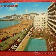 Postales: LAS PALMAS DE GRAN CANARIA. PLAYA DE LAS CANTERAS. Lote 29620095