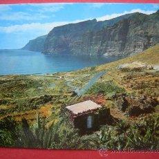 Postales: TENERIFE. PUERTO SANTIAGO Y LOS GIGANTES AL FONDO. Lote 29621057