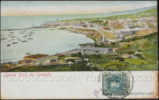 POSTAL CANARIAS SANTA CRUZ DE TENERIFE . CA AÑO 1900 . (Postales - España - Canarias Antigua (hasta 1939))