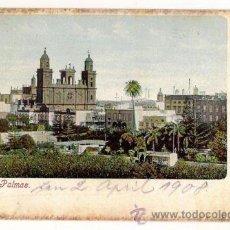 Postales: BONITA TARJETA POSTAL DE LAS PALMAS DE GRAN CANARIA: CATEDRAL Y ALREDEDORES 1908. Lote 30036500