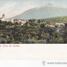 Postales: CIRCA 1900: ICOD CON EL PICO DEL TEIDE. BONITA TARJETA POSTAL SIN CIRCULAR. REVERSO SIN DIVIDIR.. Lote 30169091