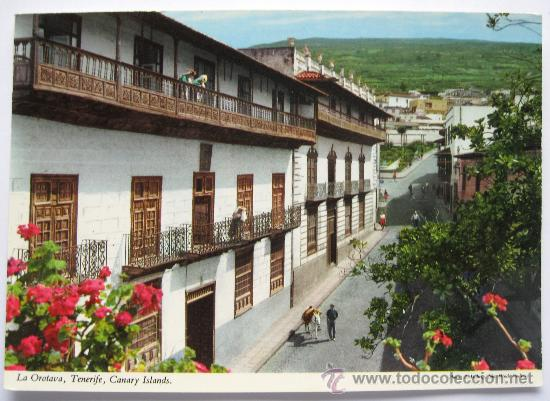 ANTIGUA POSTAL DE TENERIFE - LA OROTAVA - CASA DE LOS BALCONES - JOHN HINDE - EN (Postales - España - Canarias Moderna (desde 1940))