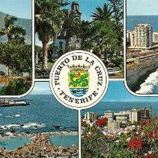 Postales: TENERIFE, PUERTO DE LA CRUZ, DISTRIBUIDORES GLOBAL TRADERS. Lote 30498453