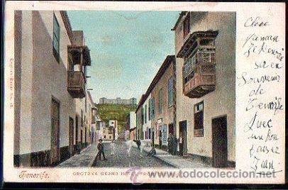 TARJETA POSTAL DE TENERIFE - ORATAVA GRAND HOTEL FROM THE PORT. 18. NOBREGA'S ENGLISH BAZAR (Postales - España - Canarias Antigua (hasta 1939))