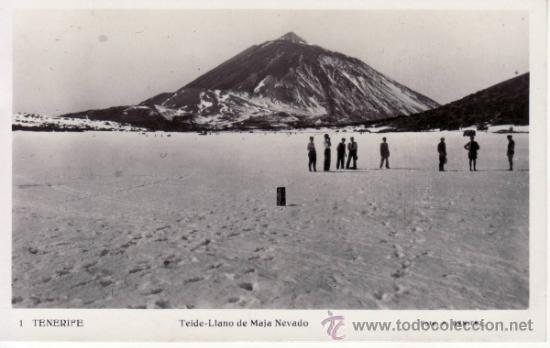 TENERIFE. FOTO A.BENITEZ. TEIDE.LLANO DE MAJA NEVADO. (Postales - España - Canarias Antigua (hasta 1939))
