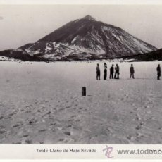 Postales: TENERIFE. FOTO A.BENITEZ. TEIDE.LLANO DE MAJA NEVADO.. Lote 30998752