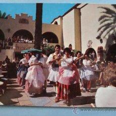 Postales: POSTAL DE LAS PALMAS GRAN CANARIA, ISLAS CANARIAS AÑO 1963. PUEBLO CANARIO, BAILES. 748. . Lote 31406519