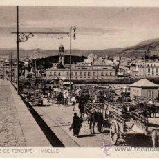 Postales: POSTALES ANTIGUAS. ISLAS CANARIAS. MUELLE DE SANTA CRUZ DE TENERIFE. RASTRILLO PORTOBELLO. Lote 31681563
