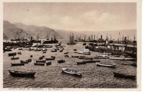 POSTALES ANTIGUAS. ISLAS CANARIAS. BARCOS EN EL PUERTO SANTA CRUZ DE TENERIFE. RASTRILLO PORTOBELLO (Postales - España - Canarias Antigua (hasta 1939))