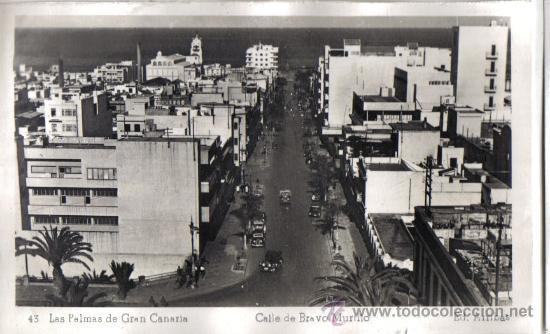 LAS PALMAS DE GRAN CANARIA, CALLE DE BRAVO MURILLO EDICIONES ARRIBAS (Postales - España - Canarias Antigua (hasta 1939))