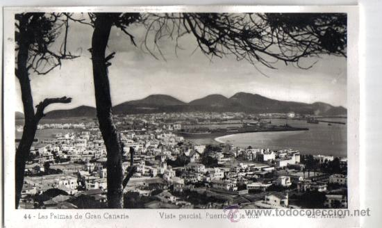 LAS PALMAS DE GRAN CANARIA, VISTA PARCIAL, PUERTO DE LA LUZ. EDICIONES ARRIBAS (Postales - España - Canarias Antigua (hasta 1939))