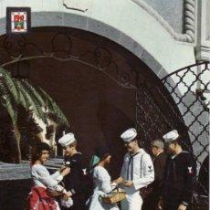 Postales: POSTALES. ISLAS CANARIAS.PUEBLO CANARIO. RECIBIENDO CON FLORES. LAS PALMAS DE GRAN CANARIA.. Lote 31767153
