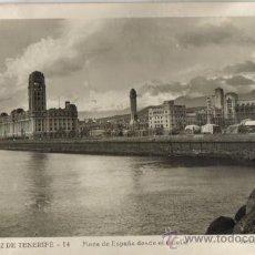 Postales: SANTA CRUZ DE TENERIFE, PLAZA DE ESPAÑA DESDE EL MUELLE, EDICIONES ARRIBAS . Lote 31807455