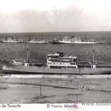 Postales: SANTA CRUZ DE TENERIFE, EL PUERTO MUELLES, EDICIONES ARRIBAS . Lote 31807474
