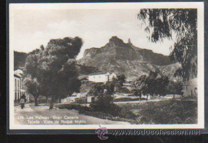 TARJETA POSTAL DE GRAN CANARIA - TEJEDA. VISTA DE ROQUE NUBLO. 119. BAZAR ALEMAN (Postales - España - Canarias Antigua (hasta 1939))